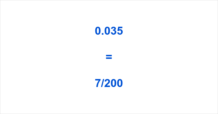 0.035 as a Fraction