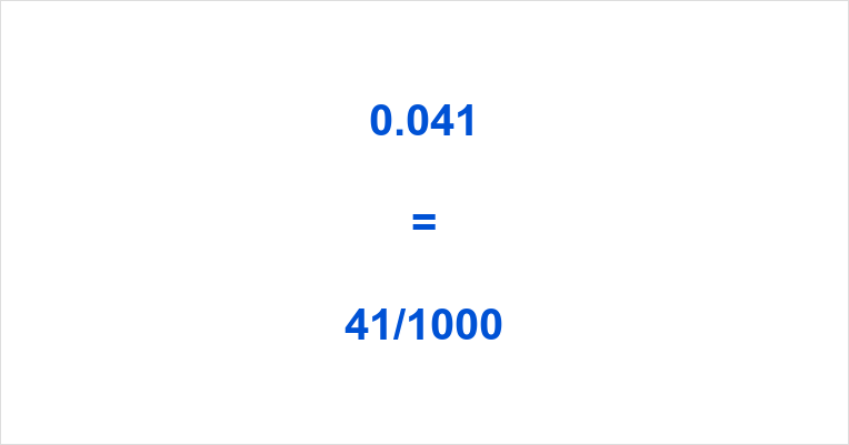 0.041 as a Fraction