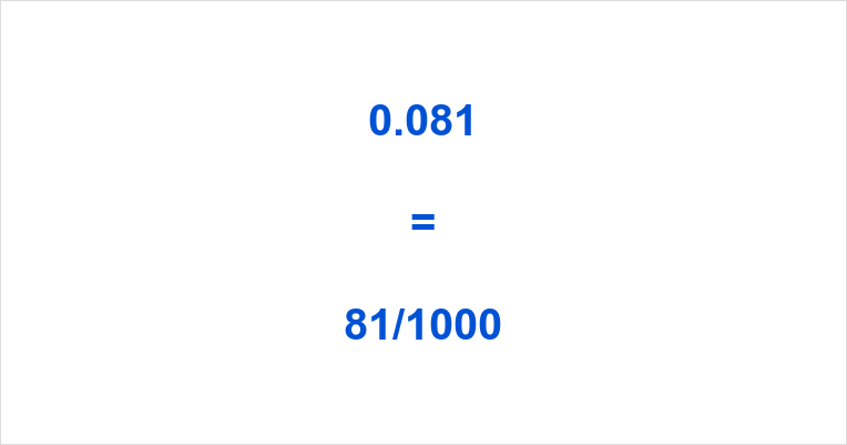 0.081 as a Fraction