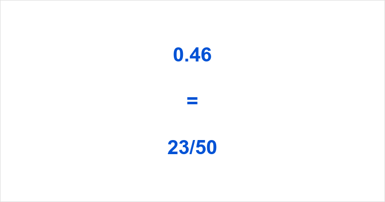 0.46 as a Fraction