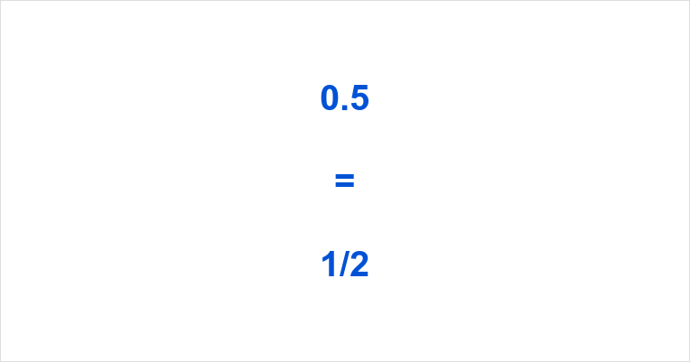 0.5 as a Fraction