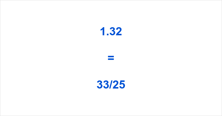 1.32 as a Fraction