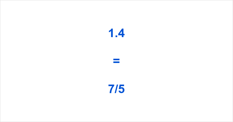 1.4 as a Fraction