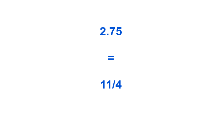 2.75 as a Fraction
