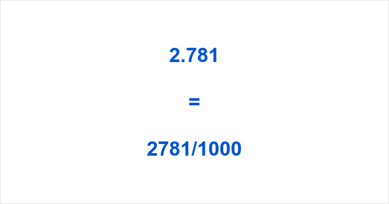2.781 as a Fraction