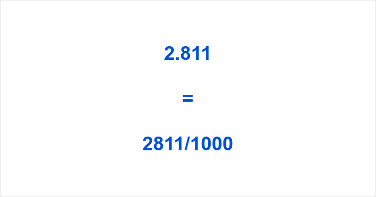 2.811 as a Fraction