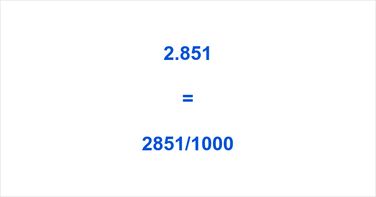 2.851 as a Fraction