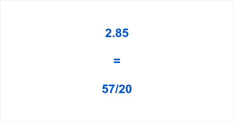 2.85 as a Fraction