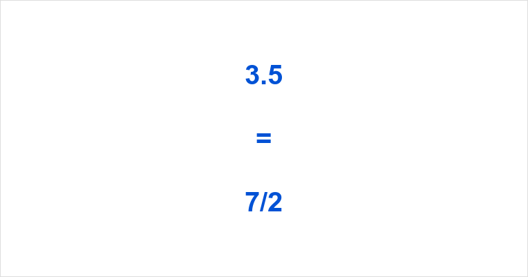 3.5 as a Fraction