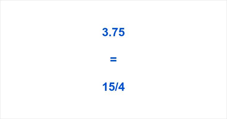 3.75 as a Fraction