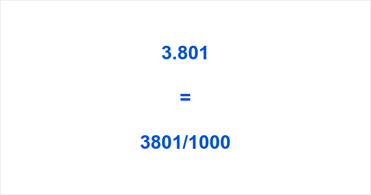 3.801 as a Fraction
