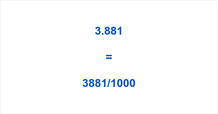 3.881 as a Fraction