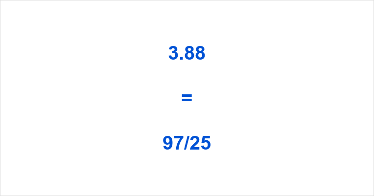 3.88 as a Fraction
