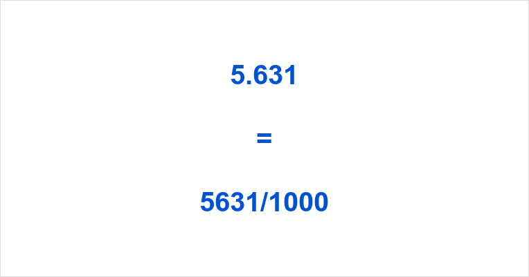 5.631 as a Fraction