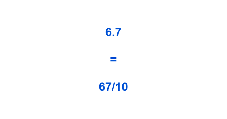 6.7 as a Fraction