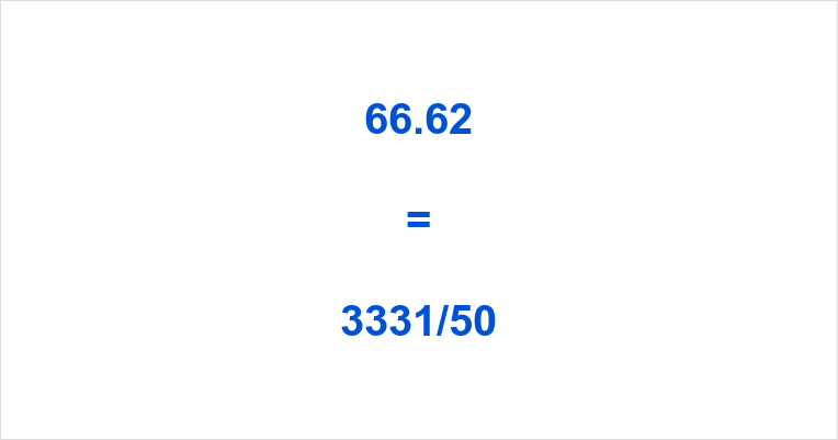 66.62 as a Fraction