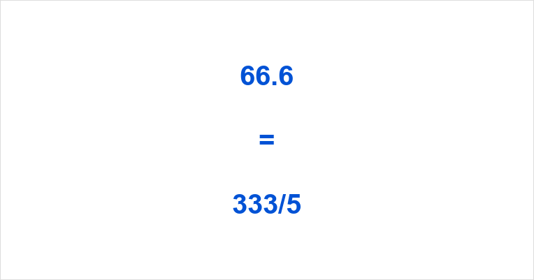 66.6 as a Fraction